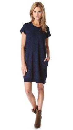 Wilt Dark Wash Pleat Back Dress
