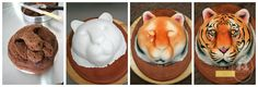 cake tutori, air brush cake, cake idea, cakes, tiger cake, cake decor, 3d cake, tigers, anim cake