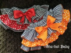 Ruffle Diaper Cover Sassy Pants Any Team Colors by SherbetBaby, $30.00