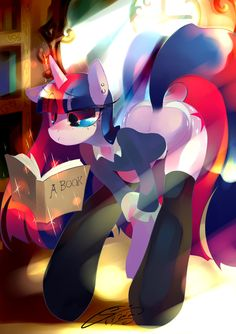 Twilight reads A Book by Iopichio