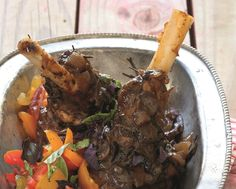 Lamb shanks with tomato, red onion and basil salsa Lamb Recipes, Roast Recipes, Roast Chicken, Roast Beef, South African Recipes, Ethnic Recipes, Easy Weekday Meals, Lamb Ribs, Lamb Shanks