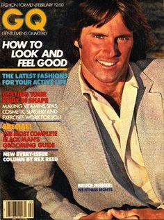 February Bruce Jenner America's Golden Boy B. (Before Caitlyn) Bruce Jenner, Gq Magazine Covers, First Encounter, Gq Men, People Of Interest, Jfk, Vintage Advertisements, Vintage Men, Feel Good