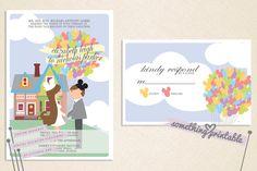 What a cute wedding invitation!