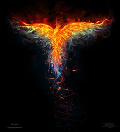 Phoenix by *amorphisss on deviantART. Amazing how the artists has conveyed the impression of fire