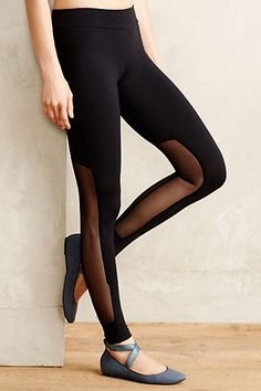 Back Seam Leggings by Nesh Black from Anthropologie. Shop more products from Anthropologie on Wanelo. Crossfit Clothes, Dressed To The Nines, Workout Wear, Wearing Black, Playing Dress Up, Lounge Wear, Leggings, Tights, Personal Style