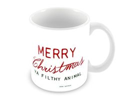 11 Oz Coffee Mug Merry Christmas Ya Filthy Animal Geek Details http://www.amazon.com/dp/B00PUSDWLQ/ref=cm_sw_r_pi_dp_tkoBub1W3QHZY