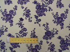 Baumwollpopeline digital bedruckt mit Blumen