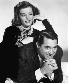 Kathrine Hepburn and Cary Grant