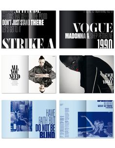 fashion magazine type layout