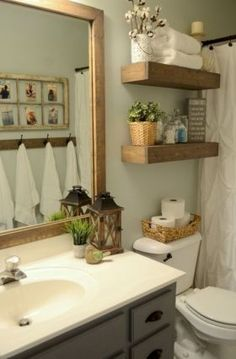4 Aware Tips AND Tricks: Simple Bathroom Remodel Walk In Shower tiny bathroom remodel floor plans.Guest Bathroom Remodel Tips easy bathroom remodel before and after.Old Bathroom Remodel Creative. Bathroom Inspiration, Farmhouse Bathroom Decor, Modern Farmhouse Bathroom, Rustic Bathroom, Bathroom Decor, Bathroom Design, Small Bathroom Remodel, Home Decor, Small Bathroom Decor