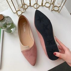 Flat Shoes Women Sweet Flats Shallow Women Boat Shoes Slip On Ladies Loafers Spring Women Flats Pink Pointed Toe Loafers, Loafer Flats, Womens Slippers, Womens Flats, Loafers For Women, Shoes Women, Ladies Loafers, Fashion Flats, Ad Fashion