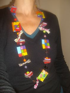 collier plastique dingue Plastique Multicolore