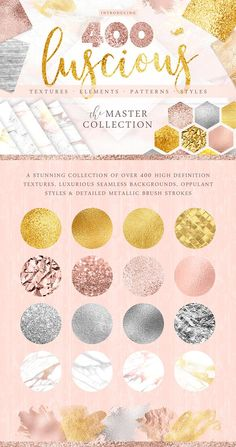 400 Gold & Marble Textures & More by Paper Lotus on @creativemarket