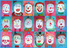Clowning Around: Drawing Lessons for Kids: KinderArt ® Kindergarten Art Lessons, Art Lessons Elementary, Drawing Lessons For Kids, Painting Lessons, Projects For Kids, Art Projects, Crafts For Kids, Class Projects, Artists For Kids