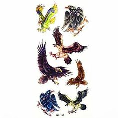 OOFAYZBL Waterproof Eagle Temporary Tattoo Sticker Tattoos Sample Mold for Body Art(18.5cm*8.5cm). Tattoo sticker use green ink and glue, is harmless to human body. Paste the successful design with waterproof and sweat-proof function, will not fall off in the shower, but do not rinse with hot water for too long, should not be rubbed with. Different parts of the pattern paste, duration of different patterned after 3-5 days began to fall under normal usage conditions, feet and other parts…