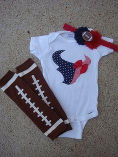 Houston Texans Onesie by RKsCloset on Etsy, $15.00