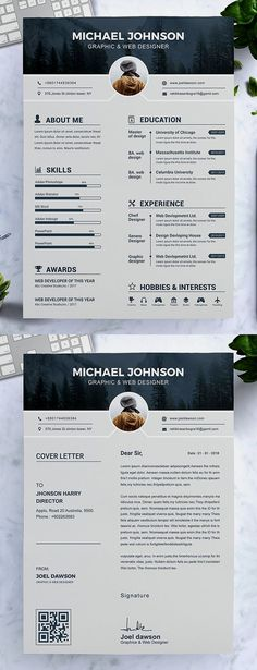 Resume for Marketing, Resume for Sales - Resume for Word Mac/PC + Cover Letter - Professional Resume