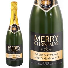 Personalised Merry Christmas Champagne - £39.99 - giftsbyhm.co.uk