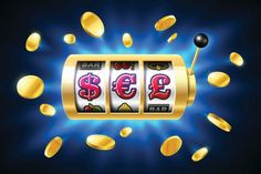 Bitcoin jackpot, cryptocurrency symbols on slot machine. gambling games, casino banner with bright blue background and flying coins around — vector by Slot Machine, Arcade Games, Las Vegas, Videos Fun, Mobile Casino, Gambling Games, Casino Games, Behance, Cryptocurrency News