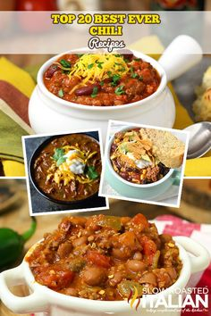http://www.theslowroasteditalian.com/2016/02/best-ever-top-20-chili-recipes.html