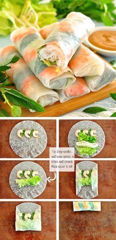 Cómo hacer rollos de papel de arroz vietnamita