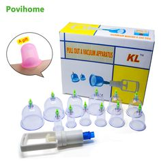 12Pcs Body Suction Cup Acupunture Massage Medicine Vacuum Cupping Body Relaxation Healthy Massage Set C1219