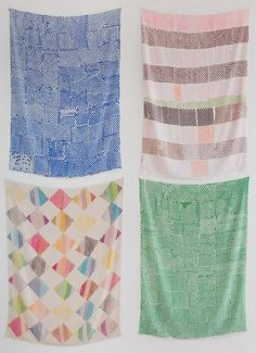 """Polly Apfelbaum at Clifton Benevento, New York, 2014. Image for Installation view of """"A Handweaver's Pattern Book""""."""