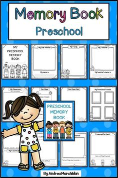 This End of the Year Memory Book is perfect for Preschool, Pre-K, or homeschool students! They will love completing this fun memory book, plus it's a great keepsake for their parents. Your preschool kids will love completing this booklet about their favorite things in preschool, drawing self portraits, their family, friends, and more!