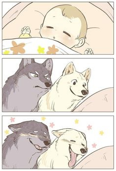 Probably The Cutest Wolf Comics On The Planet . - Probably The Cutest Wolf Comics On The Planet - Anime Wolf, Cute Animal Drawings, Kawaii Drawings, Cute Funny Animals, Funny Cute, Wolf Comics, Character Art, Character Design, Japon Illustration