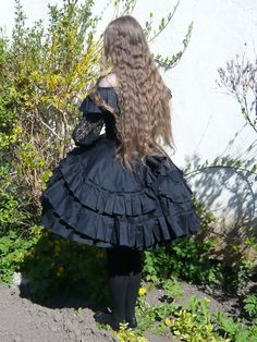 Black Period Lolita dress