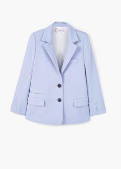 Хлопковый пиджак с подплечниками