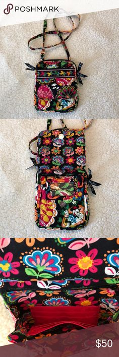 Vera Bradley Disney crossbody purse Vera Bradley Disney Parks authentic crossbody purse. Multifunctional! Used once! Great for your next Disney trip!! Vera Bradley Bags Crossbody Bags