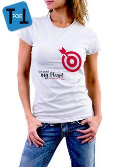 YOU TOUCHED my HEART - You touched my soul - T-shirt blanc  Femme - pour amoureux ! Tshirt cadeau de la boutique teeFORtea sur Etsy