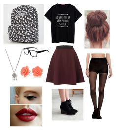 """""""High school nerdy grunge look"""" by internetaddict2k15 ❤ liked on Polyvore featuring Sportmax, Pangmama, Vans, GlassesUSA, With Love From CA and Bling Jewelry"""
