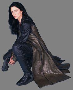 "Farscape Claudia Black as ""Officer Aeryn Sun"" Paranormal, Science Fiction, Ben Browder, Best Sci Fi Shows, Claudia Black, Sun Photo, Black Picture, Badass Women, Stargate"