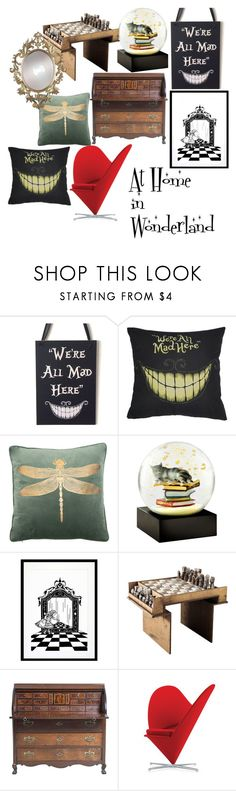 """""""At Home in Wonderland"""" by thenerdymillennial on Polyvore featuring interior, interiors, interior design, home, home decor, interior decorating, Cool Snow Globes, Eleanor Stuart, Vitra and Wonderland"""
