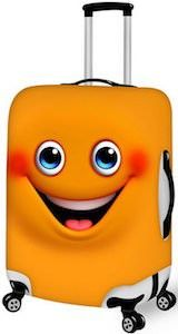 Orange Smiling Face Suitcase Cover