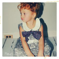 So cute!:  The Garden Party Peter Pan Collared Dress from the Fleur + Dot SpringSummer12 Collection
