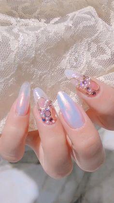Asian Nail Art, Asian Nails, Korean Nail Art, Korean Nails, Chic Nails, Classy Nails, Stylish Nails, Nail Art Designs Videos, Nail Designs