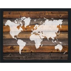 World map on wood wall art wall decor wood wall art wood framedcanvasart world map on 1 giclee wall decor wood wall decordiy gumiabroncs