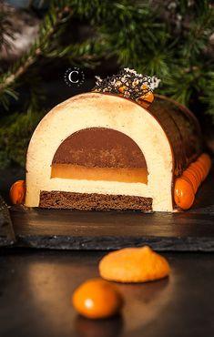 Nougat, chocolate and orange Yule Log · Cooking me softly Holiday Cakes, Christmas Desserts, Christmas Baking, Holiday Baking, Mary Berry Yule Log, Easy Yule Log Recipe, Chocolate Yule Log Recipe, Recipes Using Cake Mix, Cake Recipes