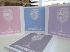 Personalised Wine Glass Birthday Card , Wine Glass Card, Special Card, Personalised Birthday Card, Wine Glass, Birthday Card