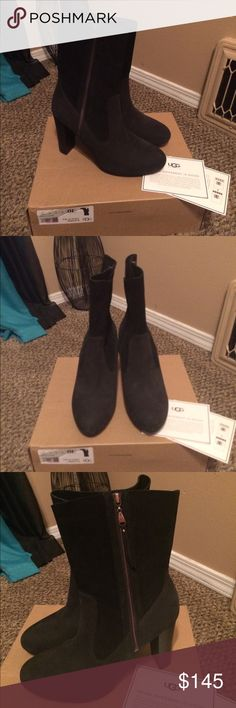 UGG Boots!! Brand New In Box, leather Athena UGG boots!! Comes with box and dust bag!!! Also one of the zip flaps is missing but still is working! Doesn't affect wear at all UGG Shoes Ankle Boots & Booties