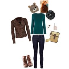 """""""Modern Day Merida"""" by laura-c-child on Polyvore"""