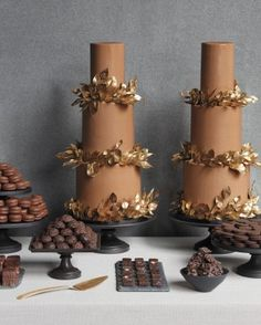 Chocolate Buttercream Wedding Cakes | 31 Fall Wedding Cakes We're Obsessed With | Martha Stewart Weddings