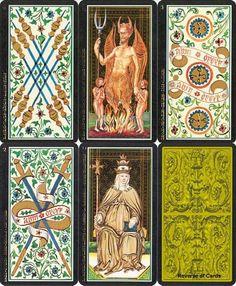 tarot card art | visconti Tarot cards