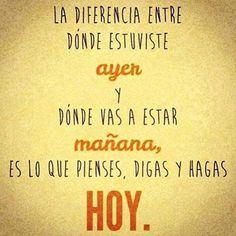 Ayer, Mañana y Hoy....