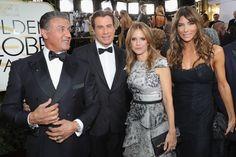 Sylvester Stallone, John Travolta, Kelly Preston, and Jennifer Flavin