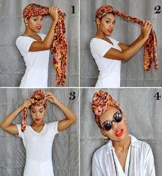 Hair Wrap Scarf, Hair Scarf Styles, Curly Hair Styles, Natural Hair Styles, Diy Scarf, Scarf Hairstyles, Summer Hairstyles, Trendy Hairstyles, Braided Hairstyles