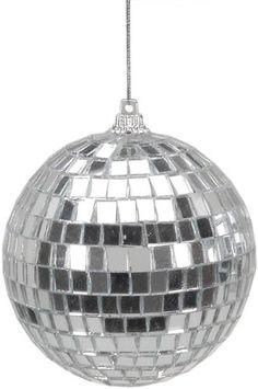 Silver Mirror Ball Ornaments
